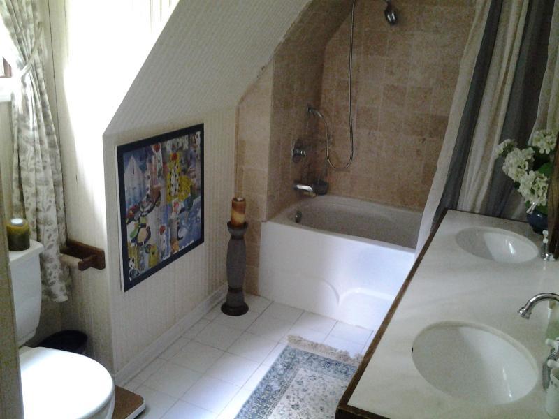 salle de bain adjacente à la chambre principale