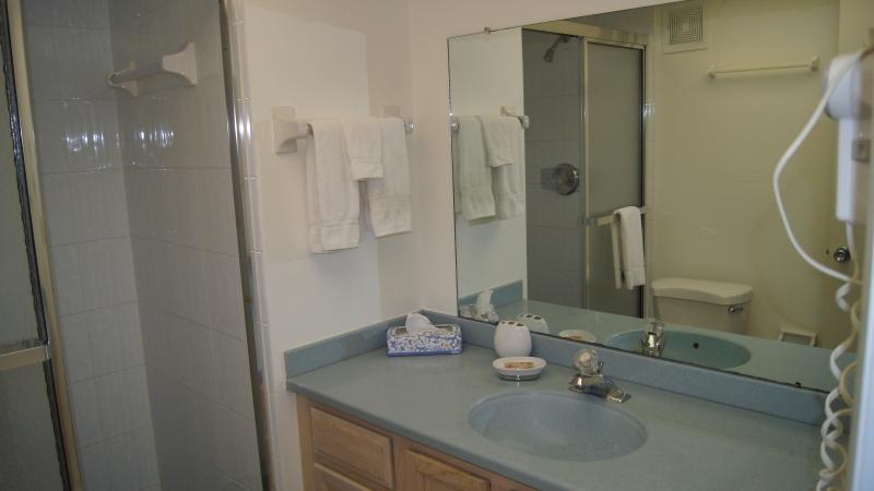 Bathroom in second bedroom.
