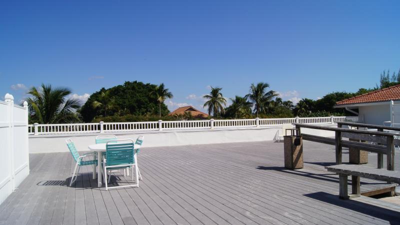 Rooftop patio.