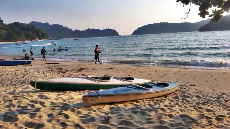 Canoa attività presso la spiaggia privata
