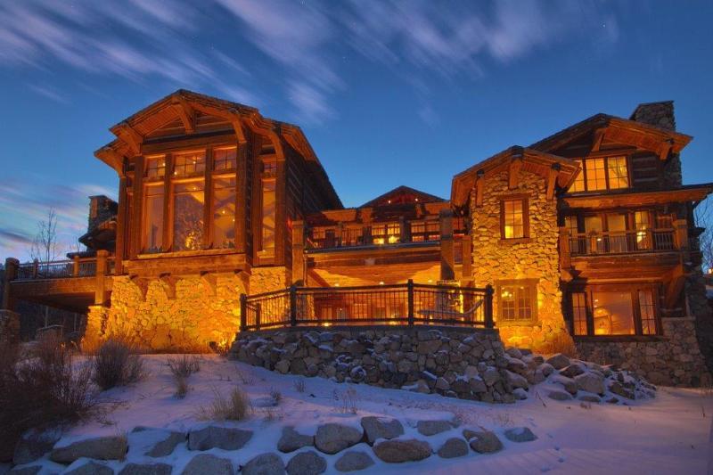 Exterior of the mansion from Deer Valley's Jordanelle ski run