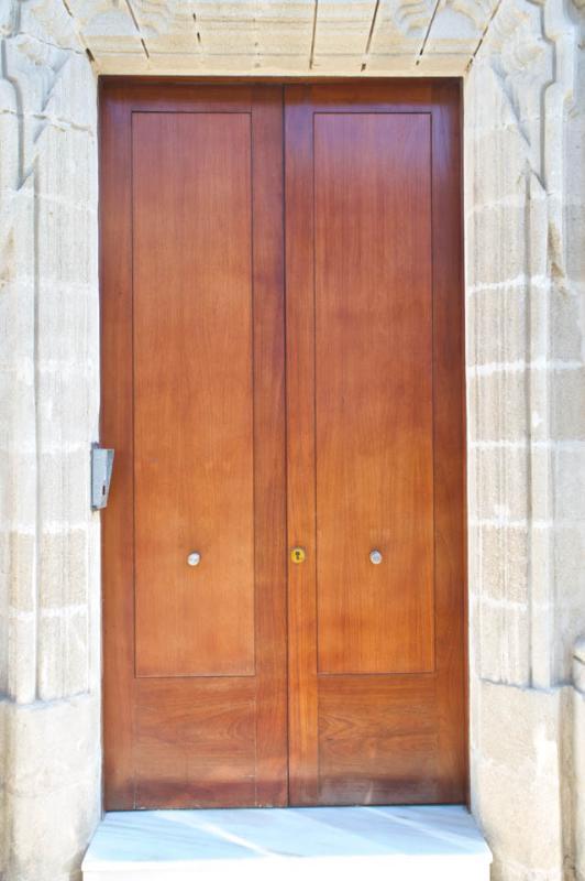 La façade de la porte de la maison