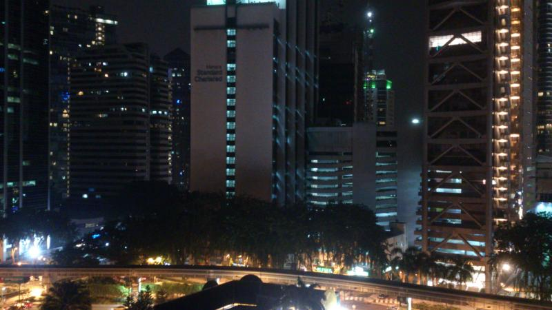 Night view from the sitting hall