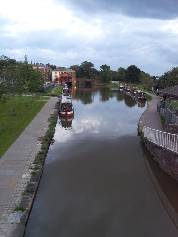 Opposite the Little Tin Chapel is where you can find this view down the Shropshire Union Canal..