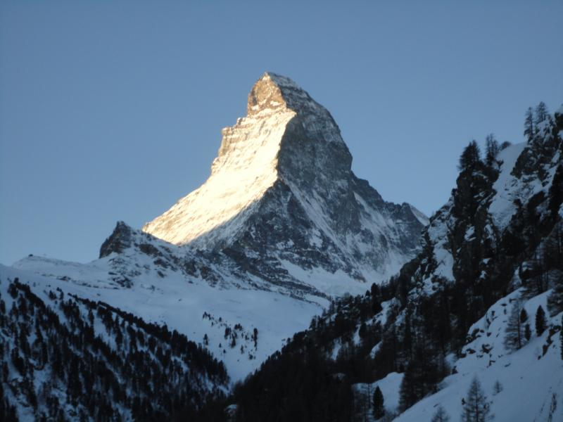 sunrise on the Matterhorn,viewed from the apartment