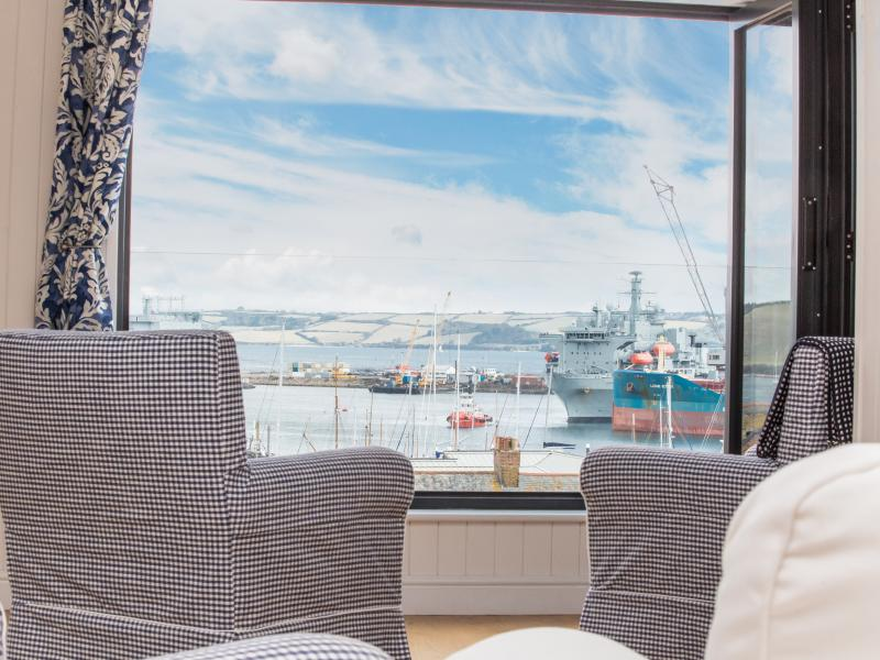 Amazing views from the house across Falmouth bay, the docks, and out to sea