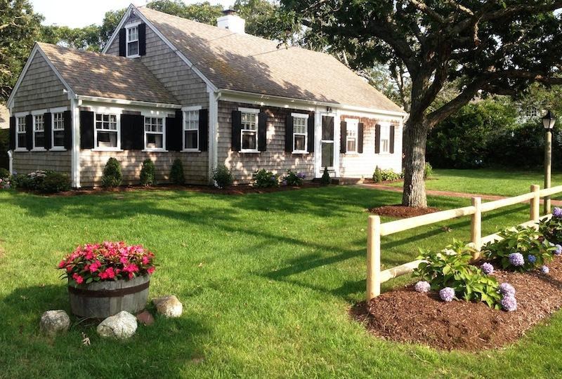 Front Yard of 'Three Doors Down' just 3 houses away from the beach! - 21 Pleasant Road West Harwich Cape Cod New England Vacation Rentals