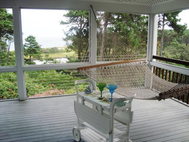 Screened in porch - time to relax - Waterfront North Chatham Cape Cod New England Vacation Rentals