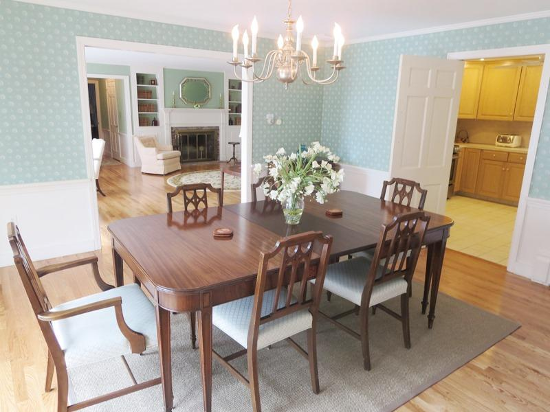 Dining room with views- open to sun deck with awning - Waterfront North Chatham Cape Cod New England Vacation Rentals