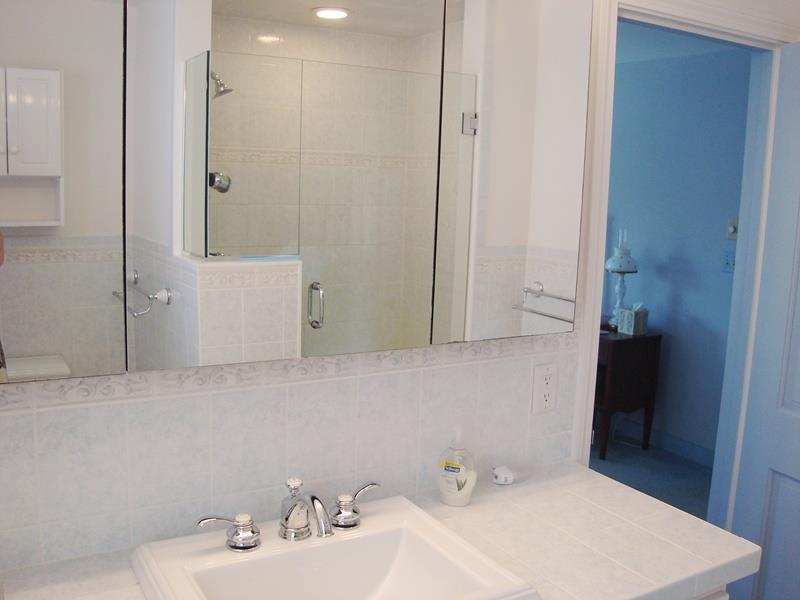 Bathroom #1 Ensuite with Shower - Waterfront North Chatham Cape Cod New England Vacation Rentals