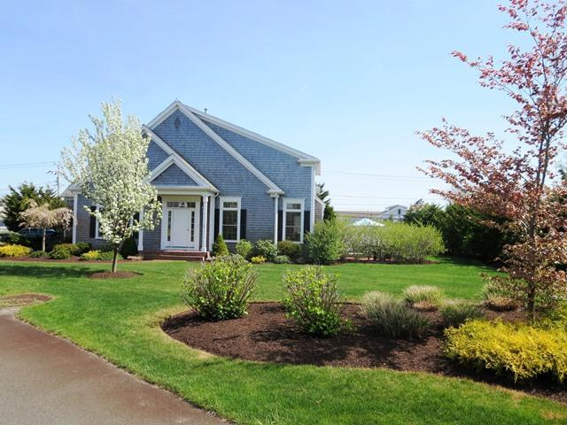 Exterior with lovely landscaped grounds - 2 Captains Row E Chatham Cape Cod New England Vacation Rentals