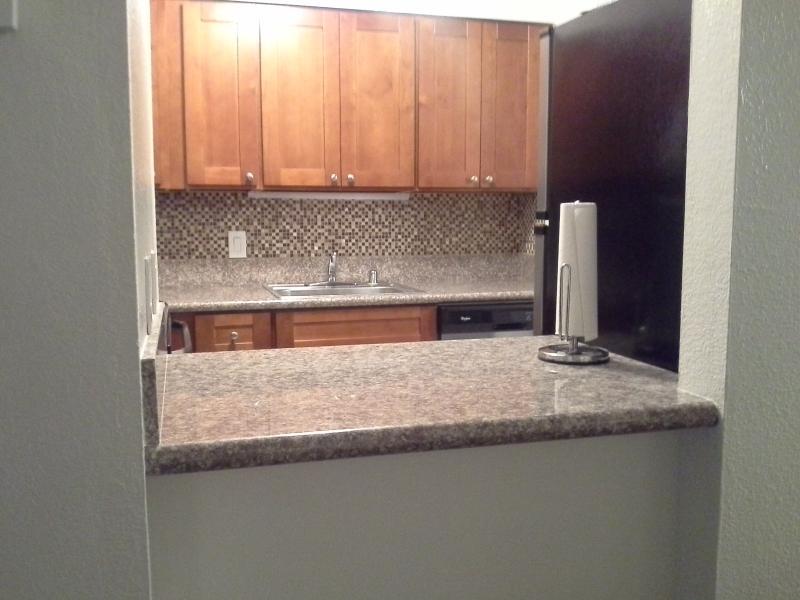 Convenient kitchen pass through