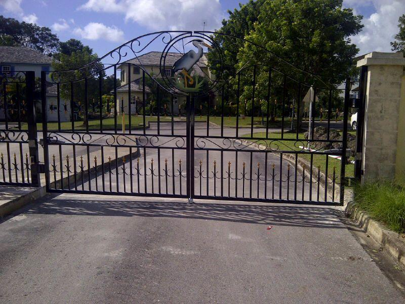 Security Gates at entrance to Heron Court