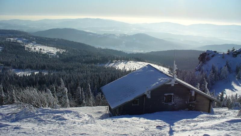 Winterwandern auf dem Arber - beautiful view on the bavarian mountains