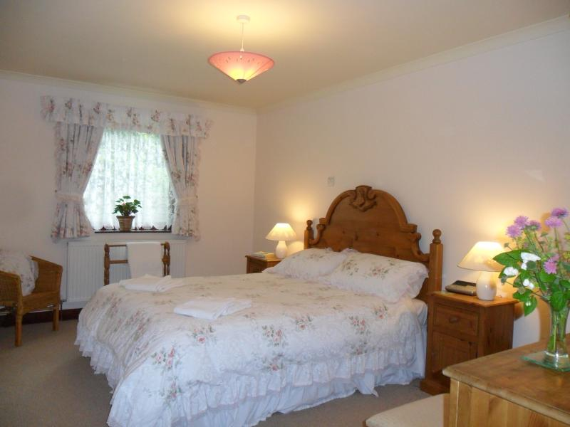 King-size double bedroom, will accommodate cot if required