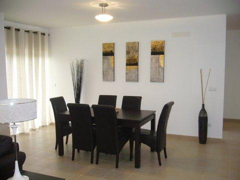 Open plan dining area leading to terrace.
