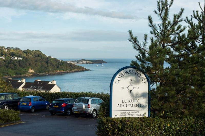 As you drive into Compass Point, stop and admire the view across to St Ives.