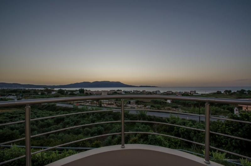 View of the sunset from the veranda