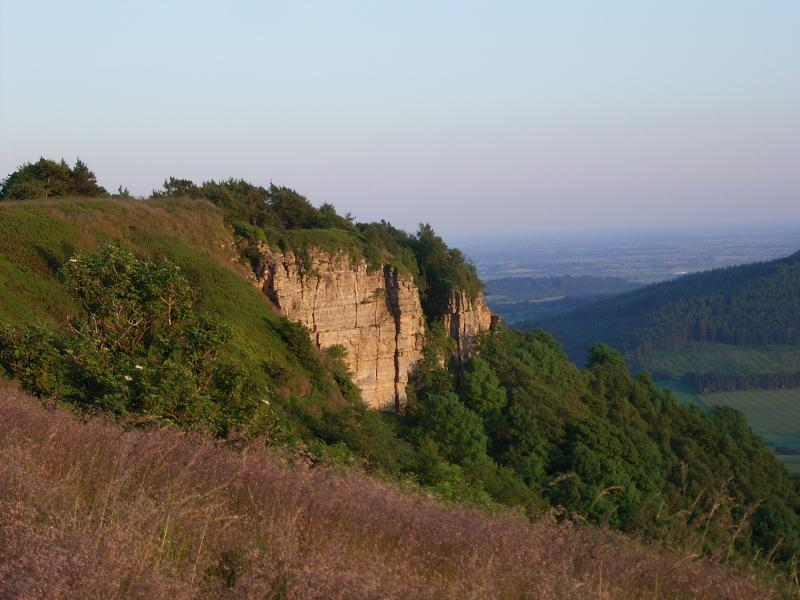 Sutton Bank with glider flying and bike trails only 30 minutes drive from cottage