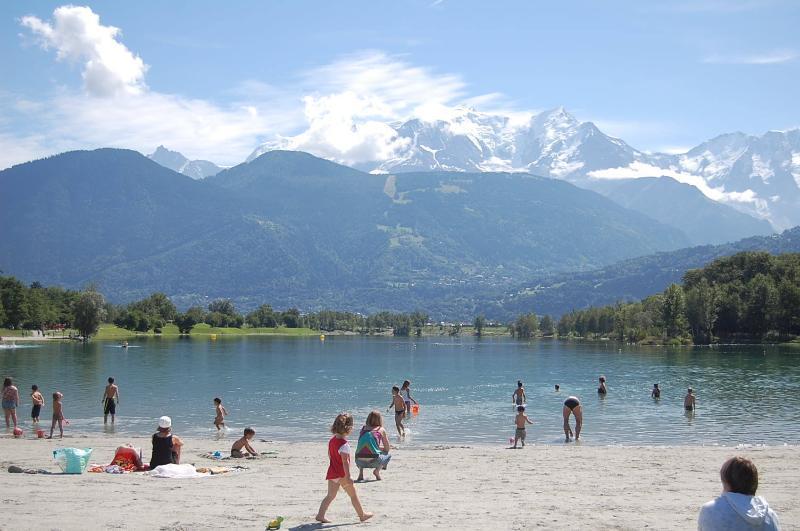 Blick vom Lac Passey im Sommer.