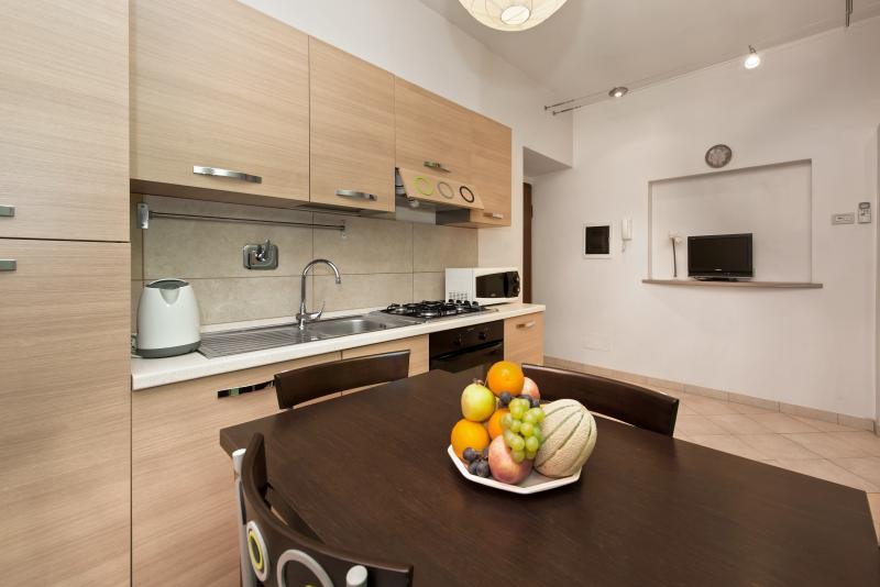 The kitchen is fully equipped and maybe you can try some Italian Food cooking during your stay