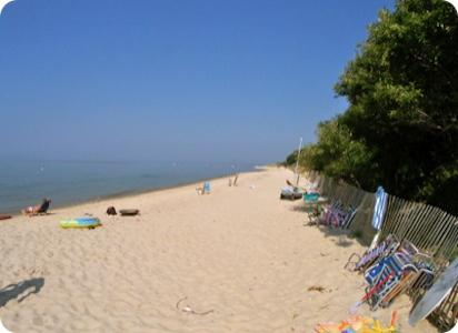 Here's the beach, looking east. Isn't this what you have in mind for your summer vacation?