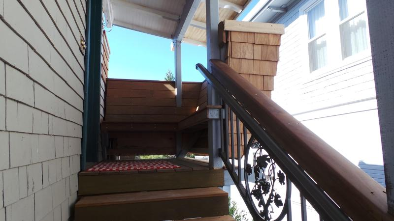 Landing/Deck at top of stairs