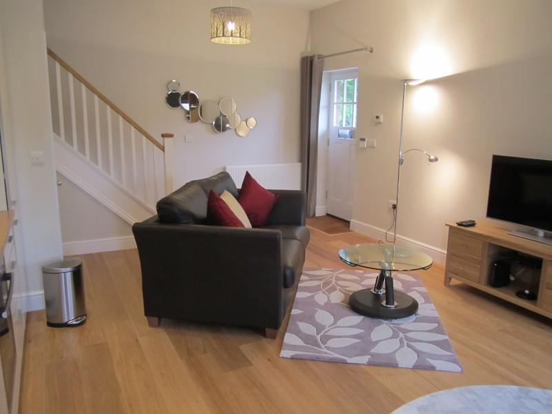 Exceptional quality furnishings, oak floors and plenty of storage space.