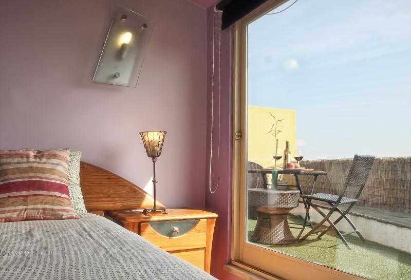 Chambre double avec accès terrasse