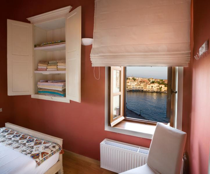 View of the Venetian port from one of the bedrooms