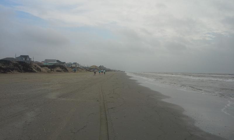 Beach short walk from house