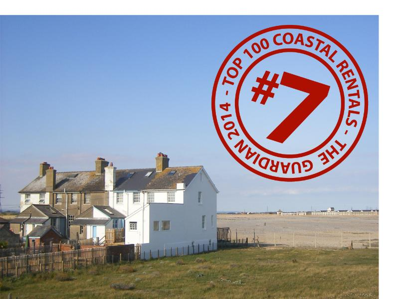 Guardian voted us the 7th best UK sea side rental. End of Coast Guards Cottages, facing the sea.