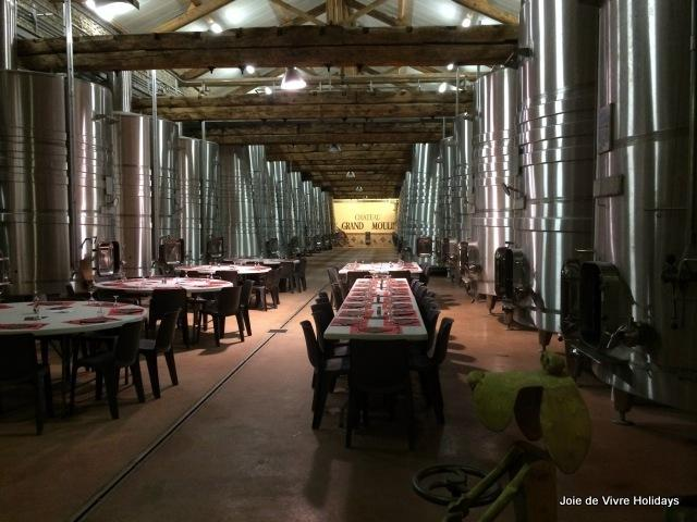 The lovely winery at Grand Moulin, Lezignan Corbieres