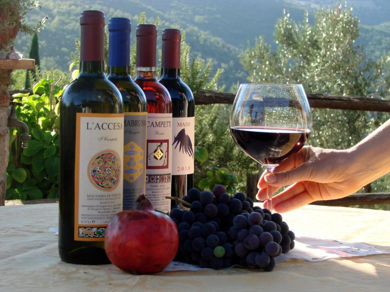 Selection of best local wines is always available