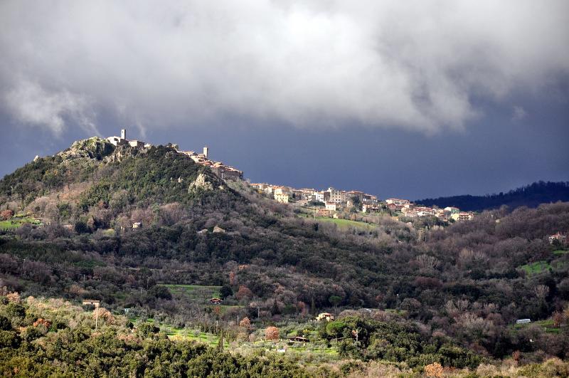 Another view of Roccatederighi - before a spring storm