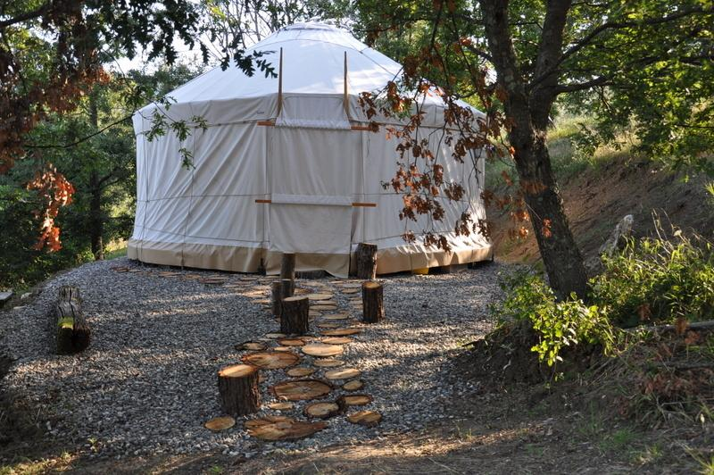 Our Yurt is a sacred a space for yoga, meditation, healing arts and more...