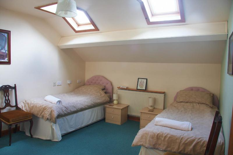 The twin-bedded room
