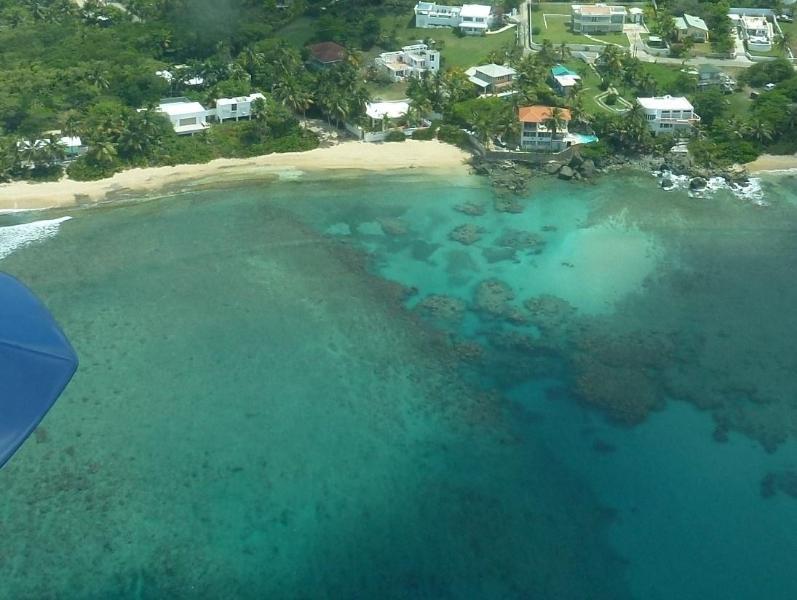 Aerial view of Los Cocos and Las Piedras