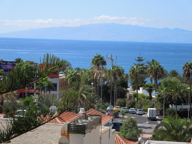 Dreamful view by the balcony to the neighbour-island La Gomera