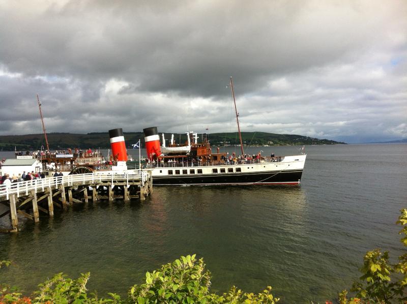 Paddle streamer waverley offre loch de l'embarcadère des croisières durant juillet et août