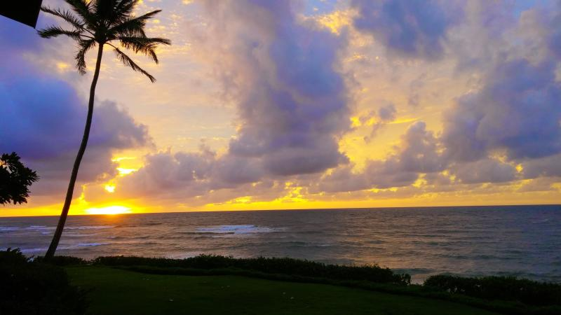 Just a sample of the sunrises from the lanai.  Early risers can get this every day