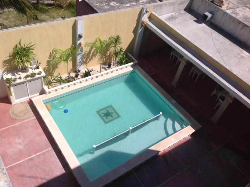 View of pool from the roof