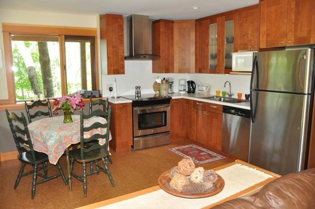 Fully stocked kitchen, and dine with a view