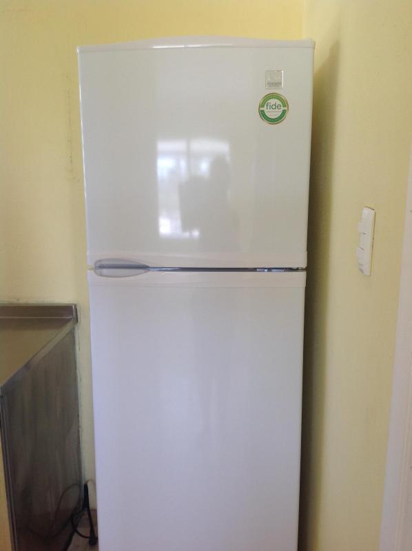 New refrigerator with good sized freezer