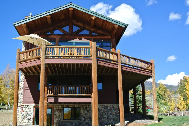 Lakeside View of the Mountain Lodge w/ Huge Main Deck & In-Law Suite Deck