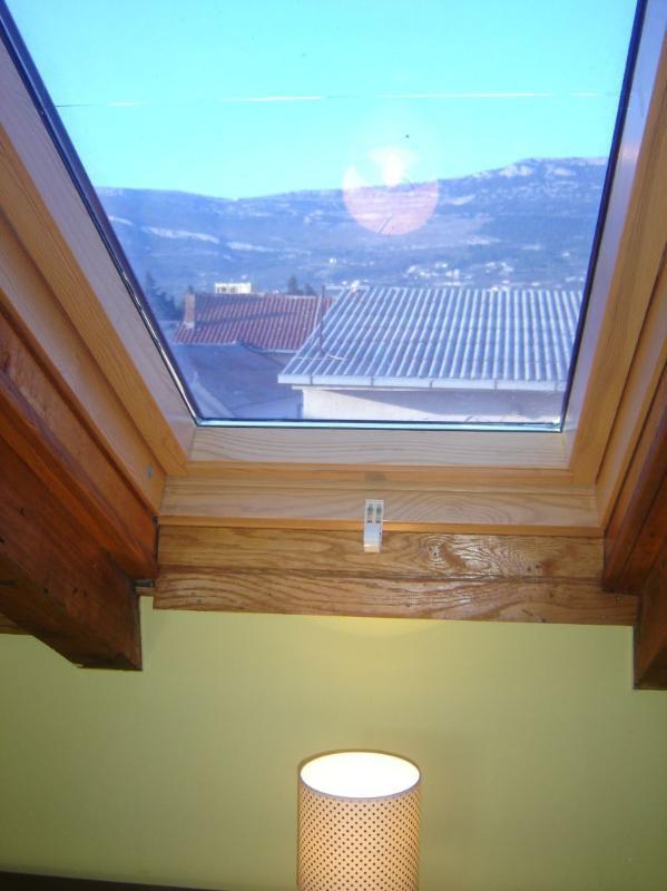 view on hill Kozjak from the bedroom window