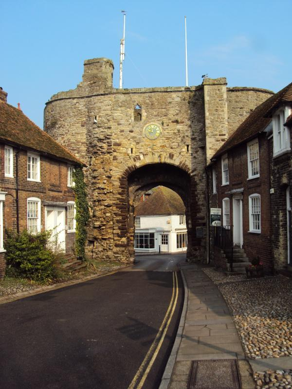 The historic Landgate arch is on the door step