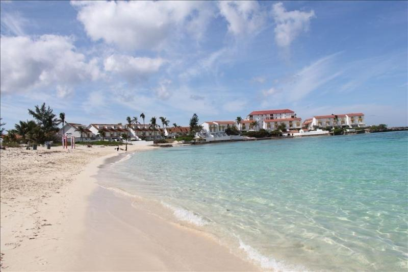 Delaporte beach only a two minute walk away from the Villa!