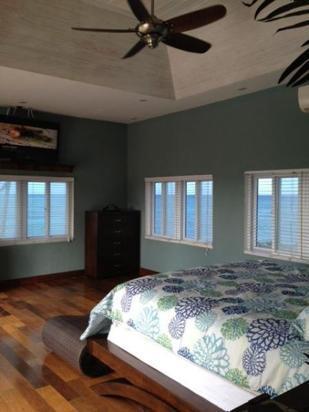 Master Suite with 12 ft tray ceiling and Panoramic Ocean Views