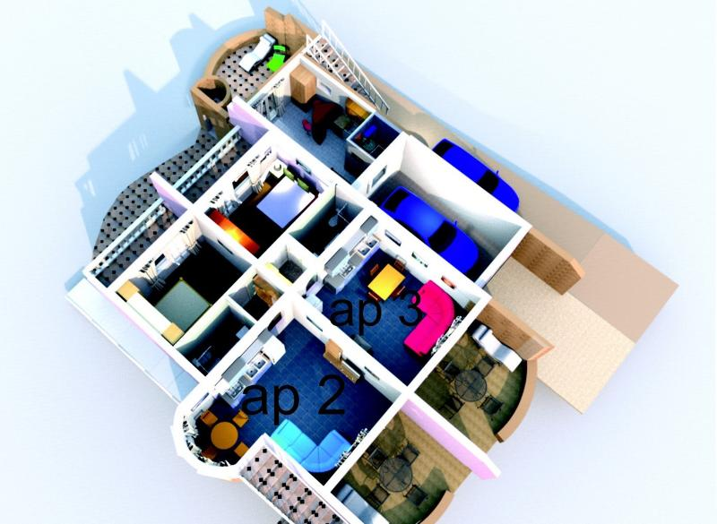 The plan of apartments